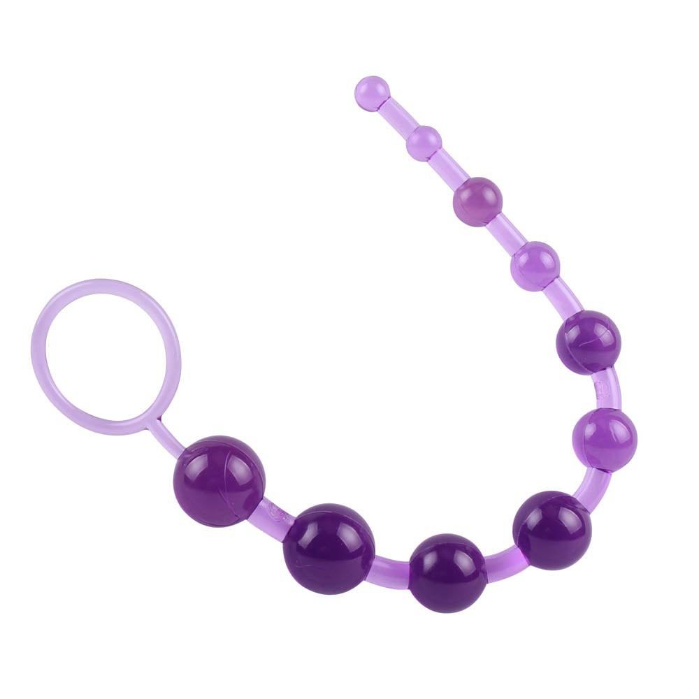 Анална броеница от 10 топчета, лилав – Sassy Anal Beads