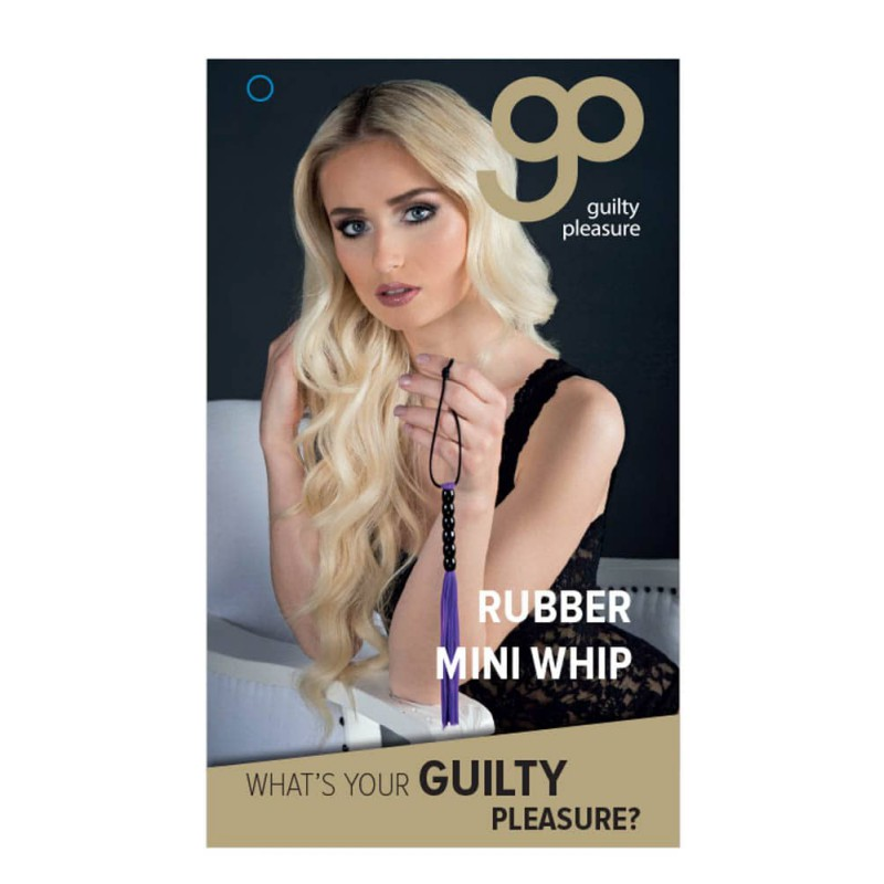 Мини камшик в лилаво – Guilty Pleasure, Rubber Mini Whip