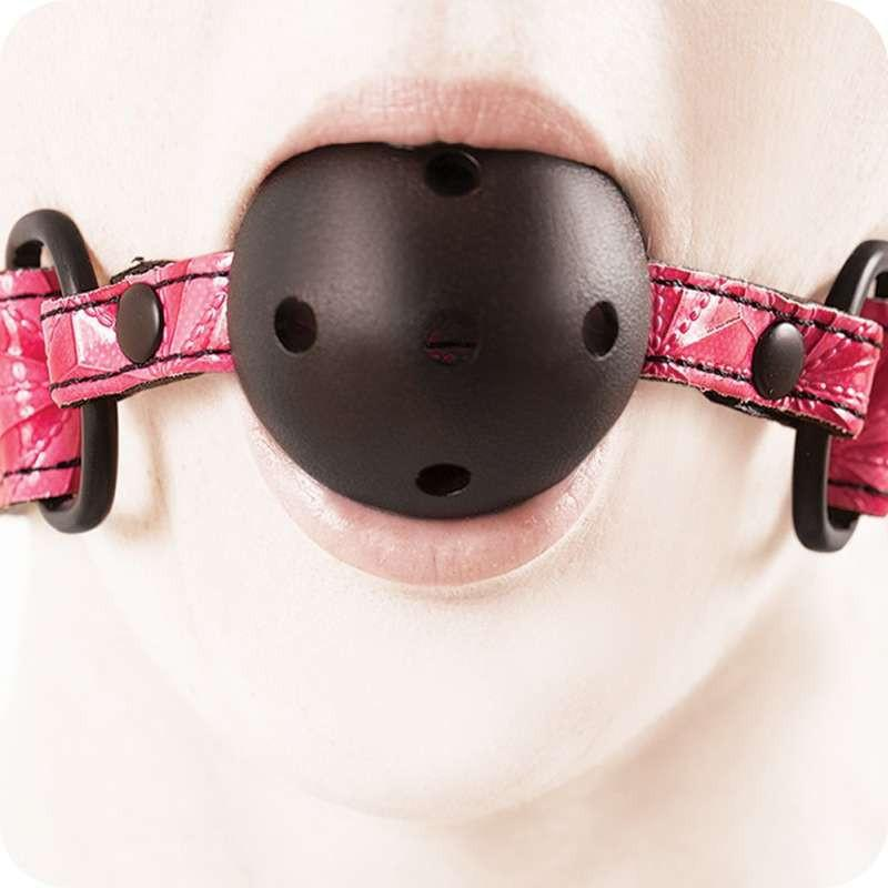 предназначена за грях в розов цвят - Sinful Ball Gag Pink — 4