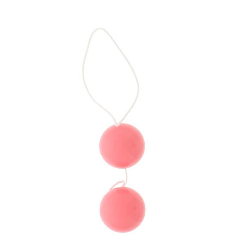 Анално-вагинални с гладка повърхност в розов цвят – Vibratone Duo Balls
