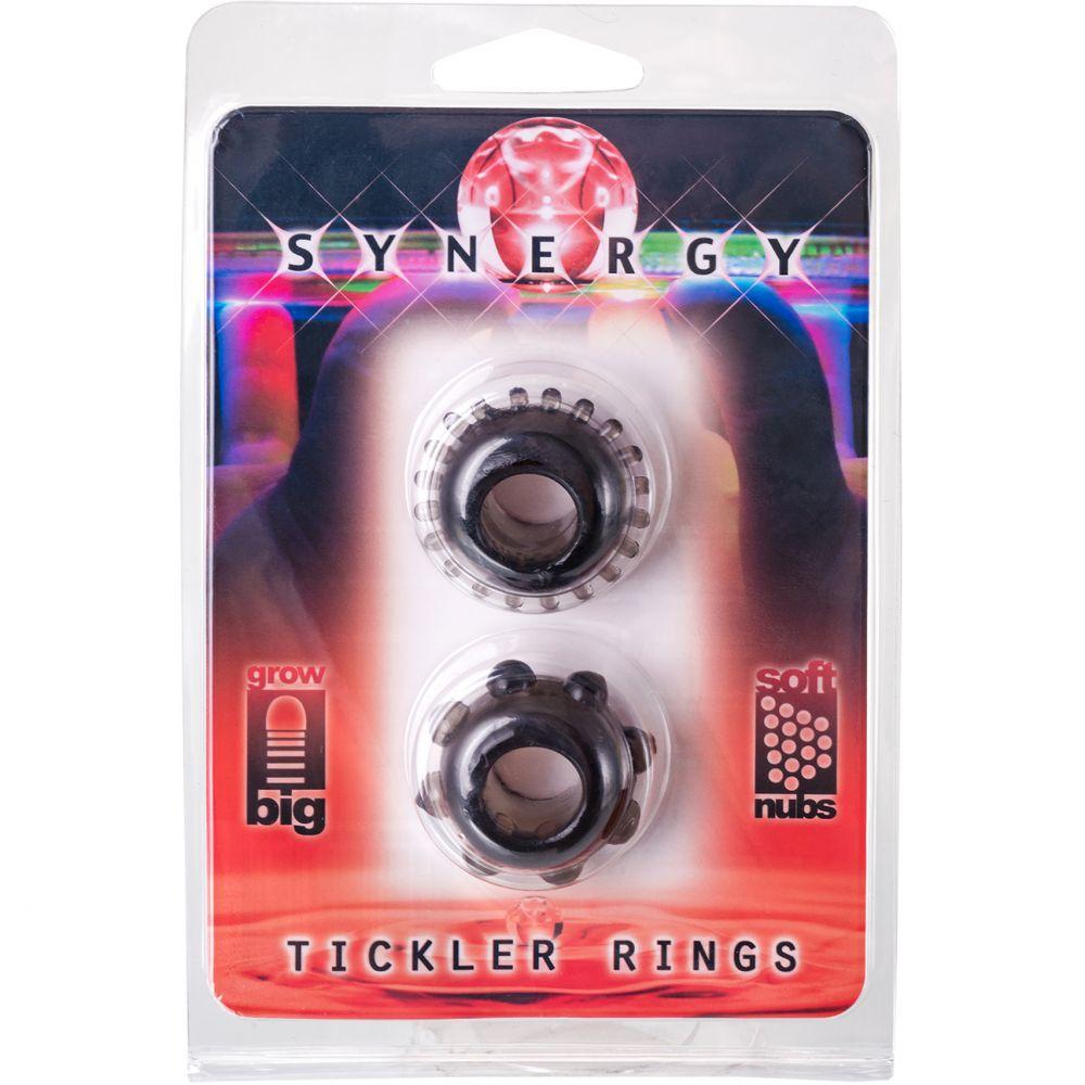 Пенис пръстени в черен цвят - Synergy Tickler Rings Black — 2