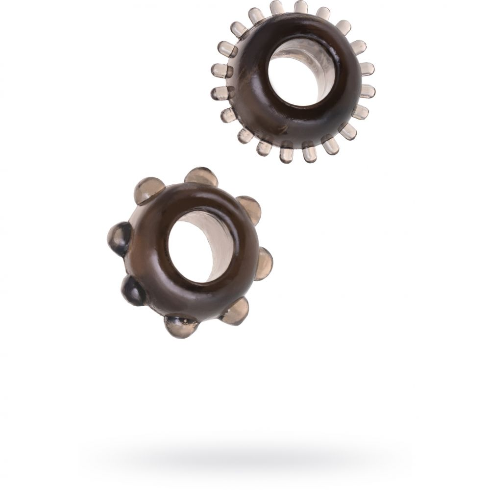 Пенис пръстени в черен цвят - Synergy Tickler Rings Black
