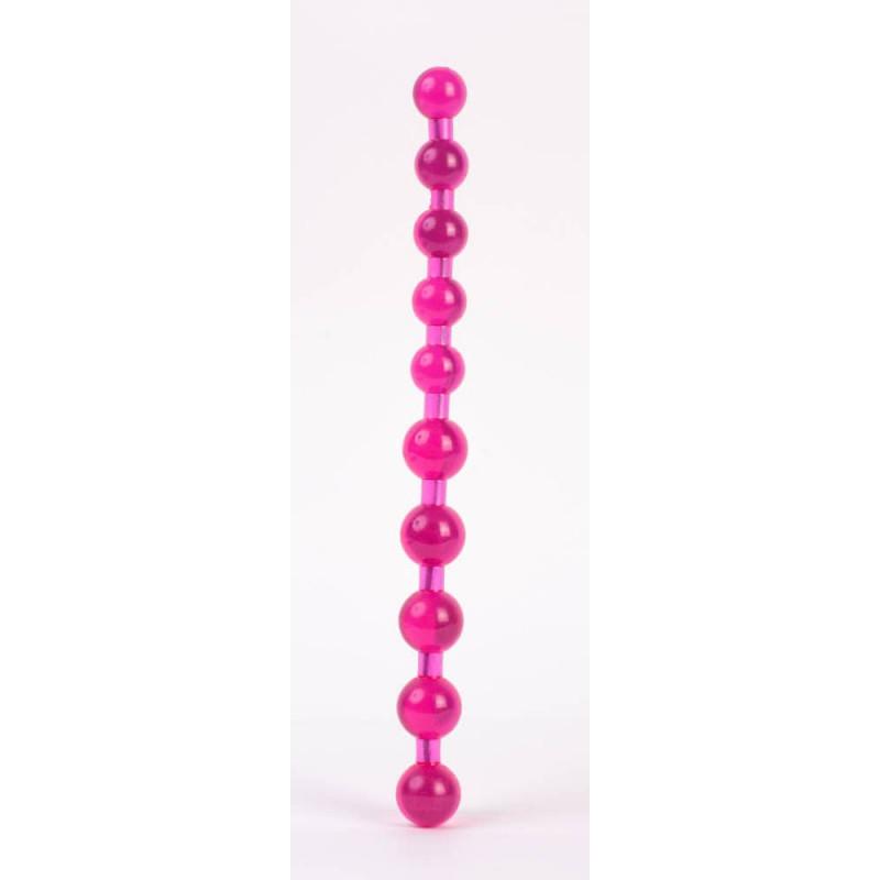 Анална броеница 28см. - Pleasure Beads Pink — 2