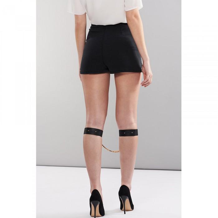 Маншети за глезени и моден аксесоар в черно - MAZE Kneecuffs Black — 5