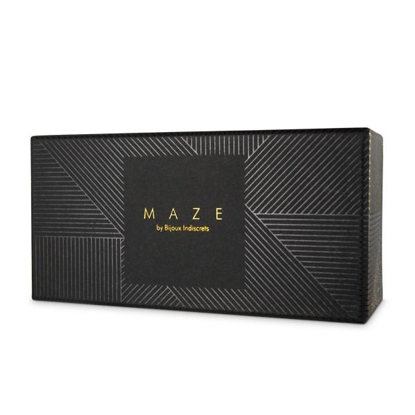 Чокър с каишка в черен цвят - MAZE - Wide choker with leash black — 3
