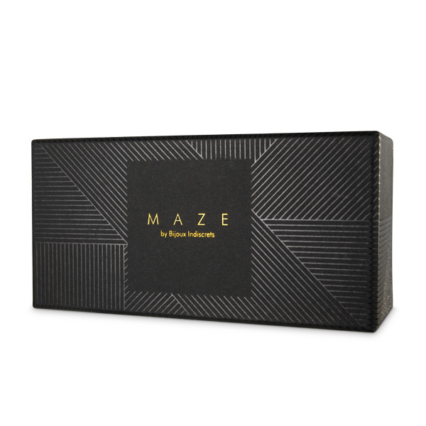 Дизайнерски гривни-белезници в кафяв цвят - MAZE Thincuffs Brown — 2