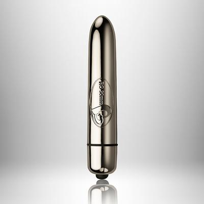 Мини вибратор с 10 вибро режима, хром 9см. – RO-90mm 10 Speed Chrome