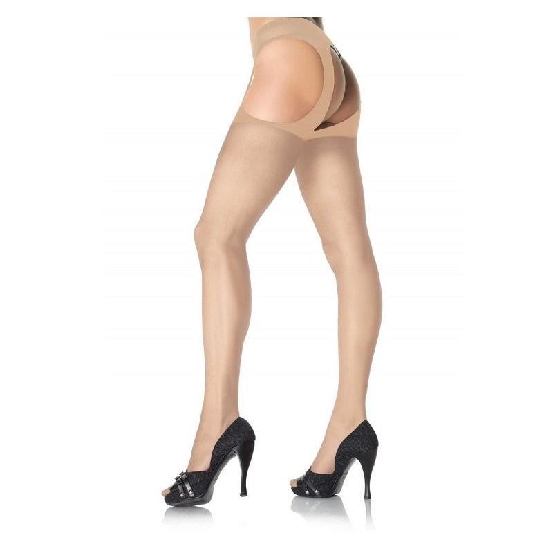 Чорапогащник в телесен цвят - Sheer Suspender Pantyhose Nude — 2