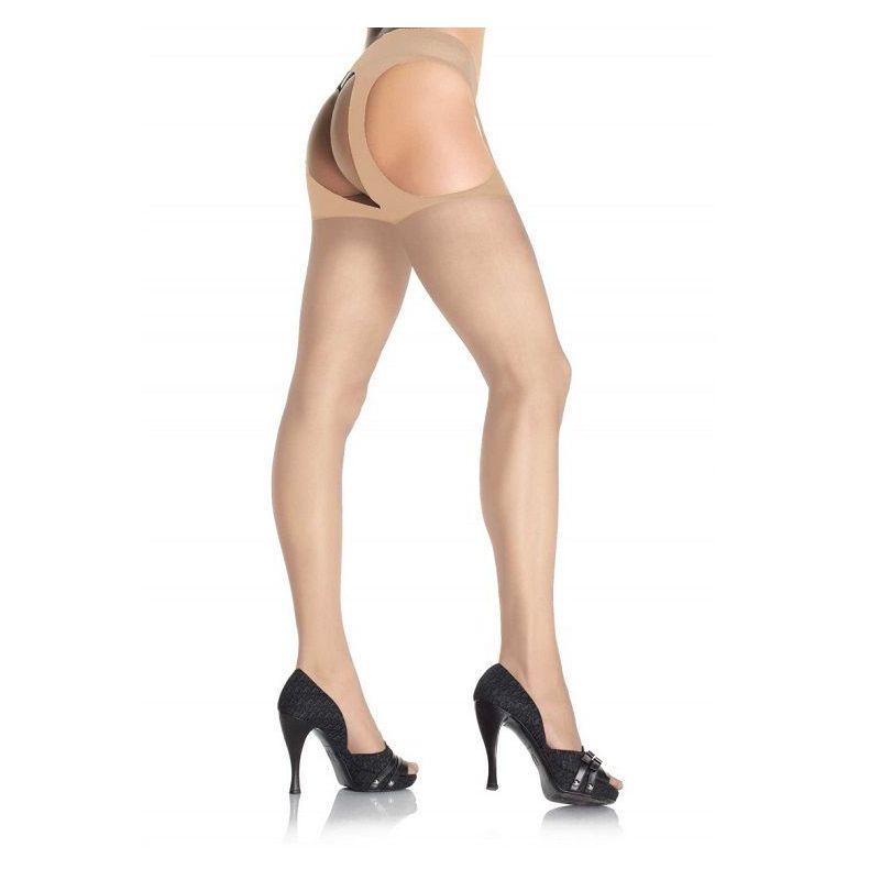 Чорапогащник в телесен цвят - Sheer Suspender Pantyhose Nude