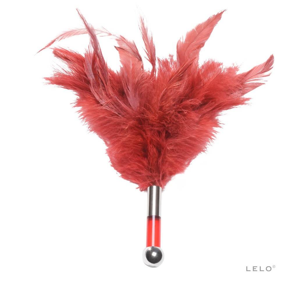 Еротичен аксесоар с червени пера - Tantra Feather