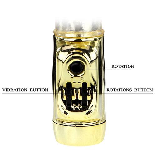 Вибратор с много степени на наслада - U.S. Gold Lover Vibrating & Rotating — 4
