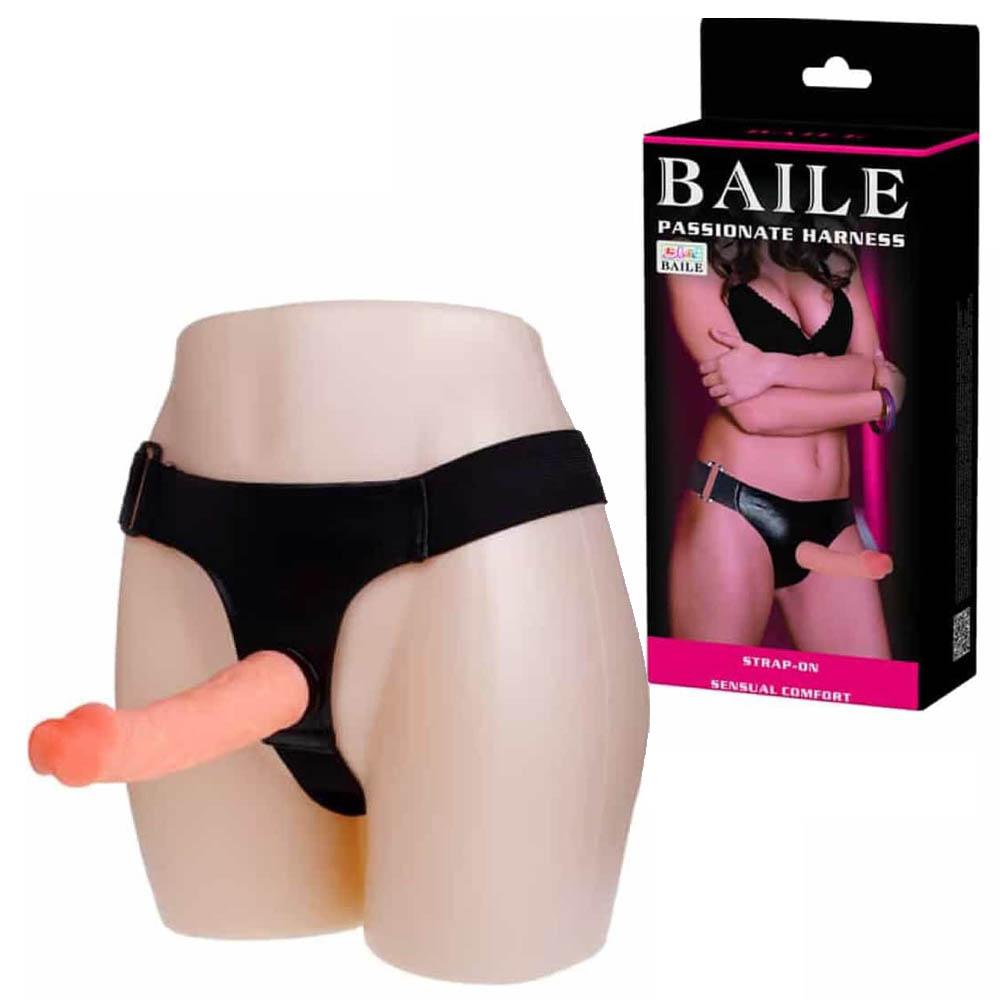 Пенис колан, strap-on, 19см. – Baile Passionate Harness