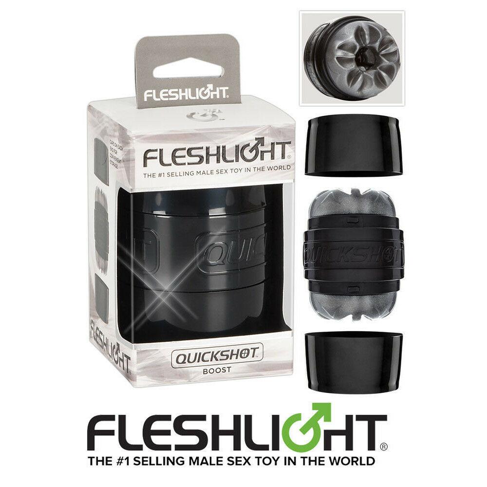 Практичен мастурбатор с отворено дъно – Quickshot Boost, Fleshlight
