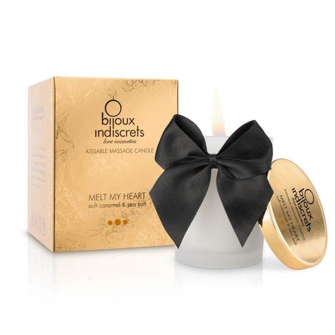 Масажна свещ с вкус на карамел – Melt My Heart, Soft Caramel 70ml