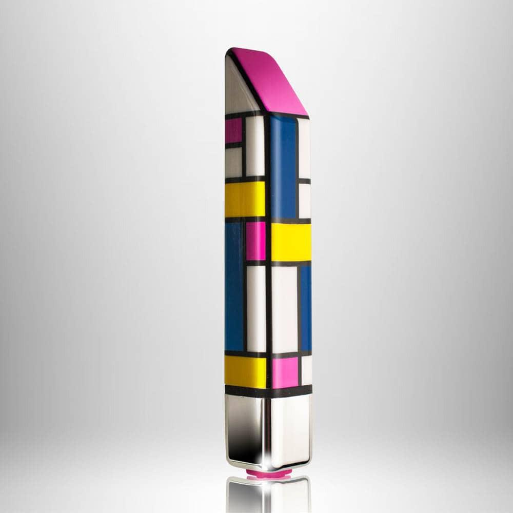 Мини вибратор, дискретен и стилен, многоцветен 11,6см. – Bamboo Mondri-anne