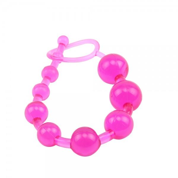 Анална броеница от 10 топчета, розов – Sassy Anal Beads