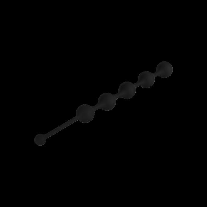 Анална броеница от 5 топчета в черен цвят 28см. – See You Five Beads Anal Black