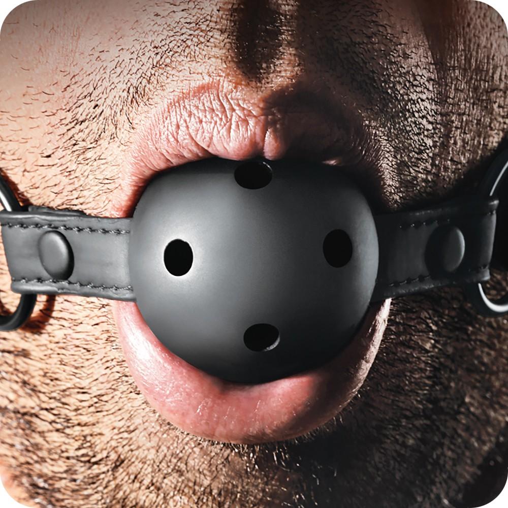Топка за уста с отвори за въздух, пълна наслада – Renegade Bondage Ball Gag Black