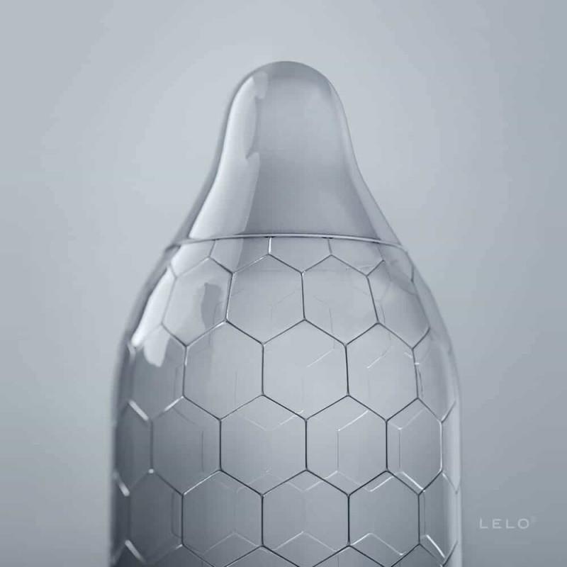 Презервативи с революционна шестоъгълна структура - HEX Condoms Original 12 Pack — 7