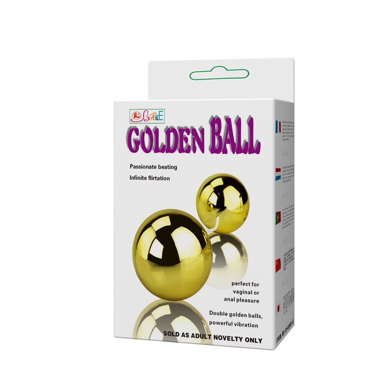 Унисекс вибриращи топчета с дистанционно управление - Golden Balls — 7