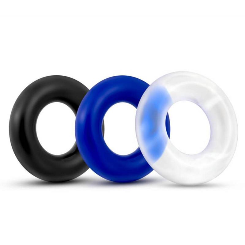 Комплект, пенис пръстени – X-Basic Donut Rings 3 pack