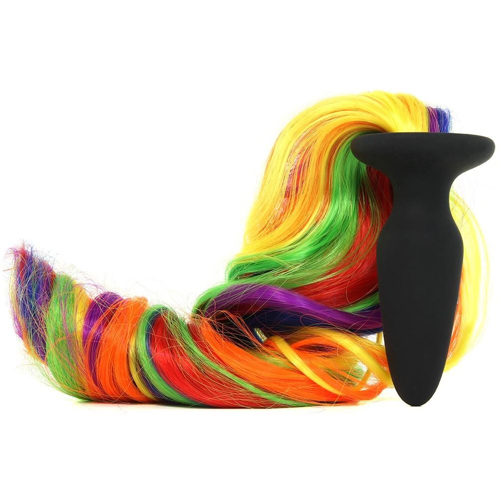 Анален плъг, опашката на еднорога в цветовете на дъгата – Unicorn Tails, Rainbow