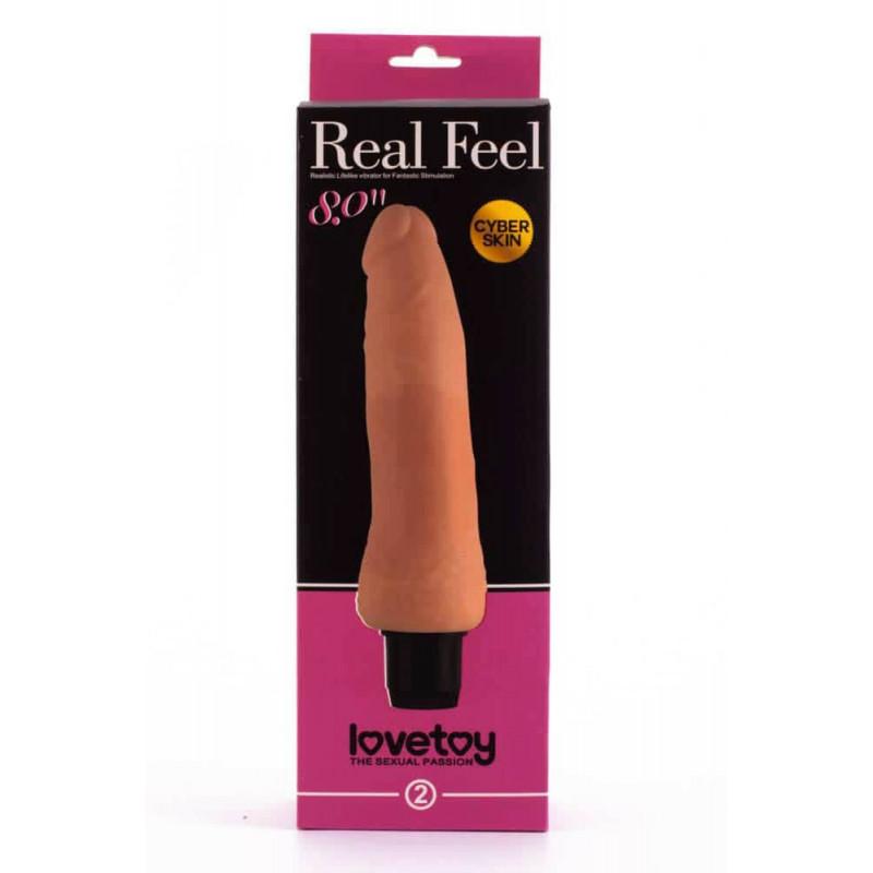 Реалистичен вибратор от кибер кожа 20см. - Real Feel Cyberskin Vibrator 3 — 2