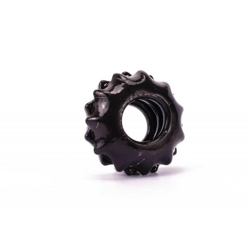 Пенис пръстен за истинска мощ №1 в черен цвят - Power Plus Cockring 1 — 6
