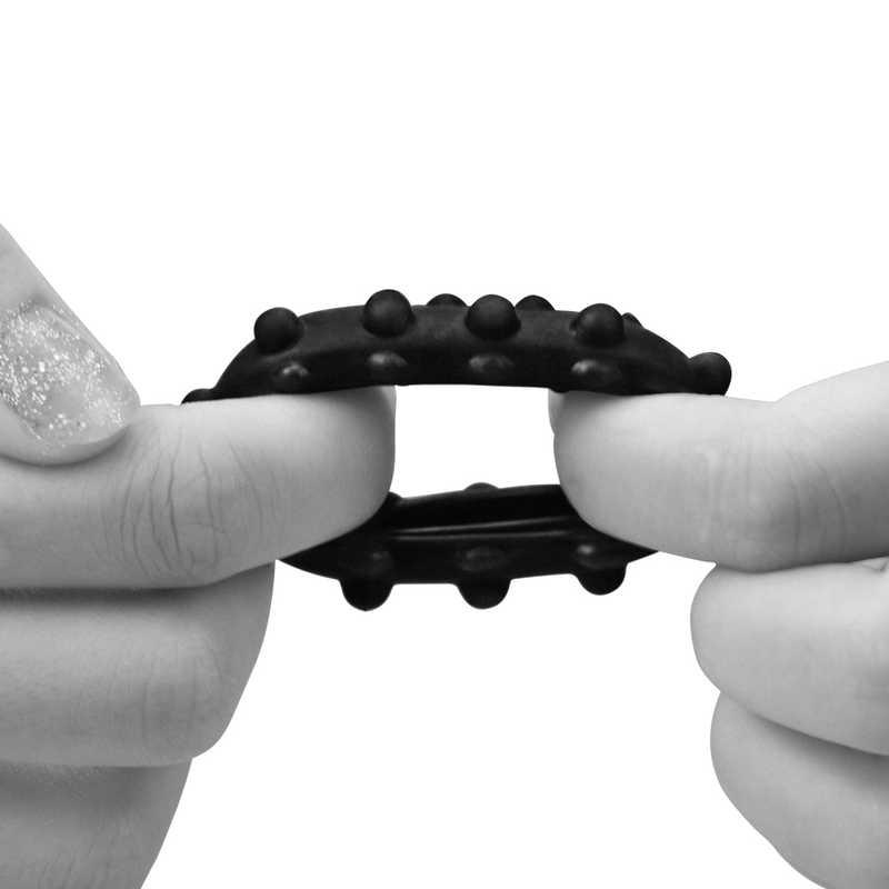 Пенис пръстен за истинска мощ №3 в черен цвят - Power Plus Cockring 3 — 8