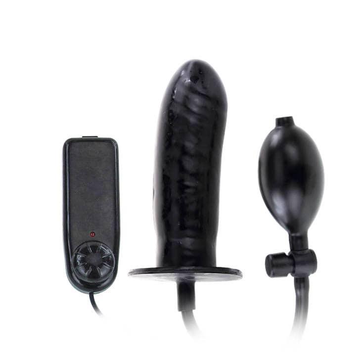 Надуваемо анално дилдо с вибрации - Bigger Joy Inflatable Penis — 6