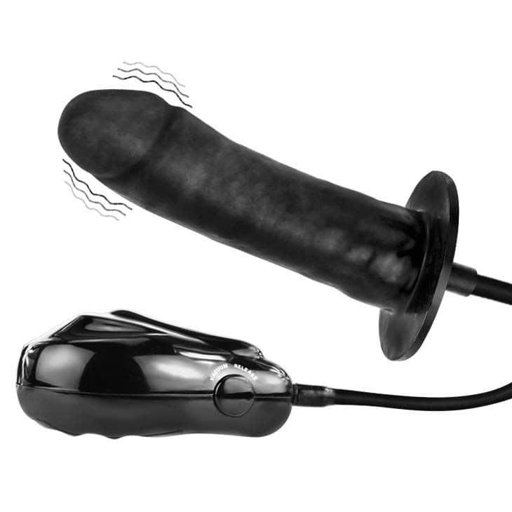 Надуваемо дилдо с вибрации - Bigger Joy Inflatable Penis — 2
