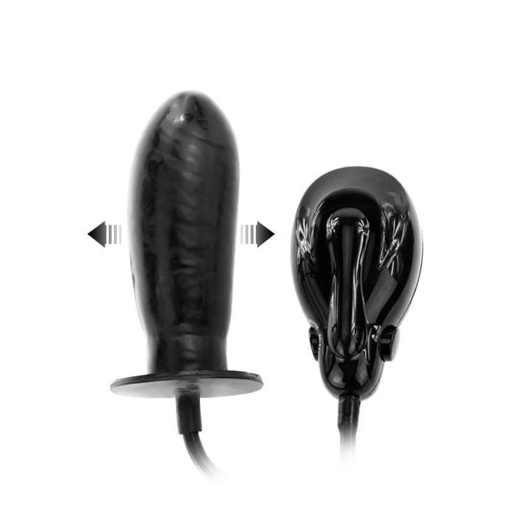 Надуваемо дилдо с вибрации - Bigger Joy Inflatable Penis — 5