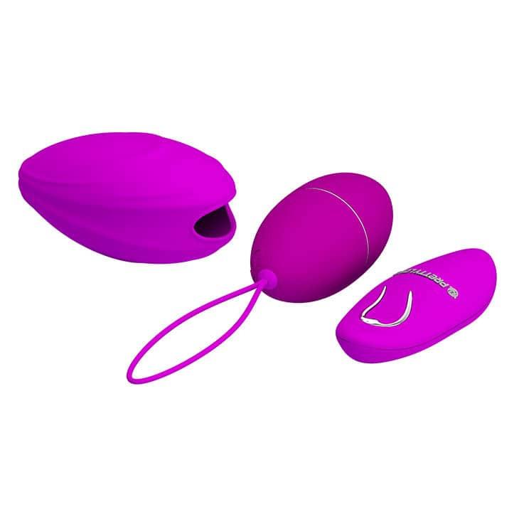 Вибриращо яйце с дистанционно и силикон ръкав - Pretty Love Hyper Egg — 7