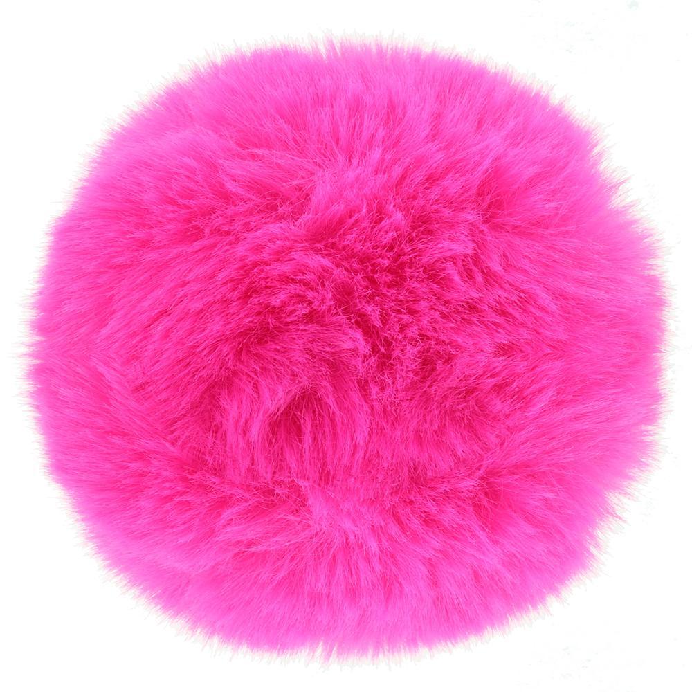 заешка опашка в розов цвят - Neon Bunny Tail — 2