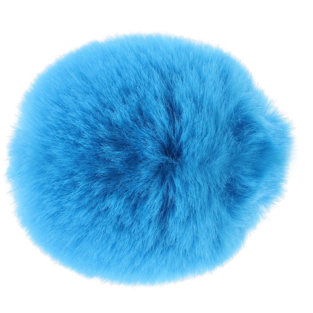заешка опашка в син цвят - Neon Bunny Tail — 2