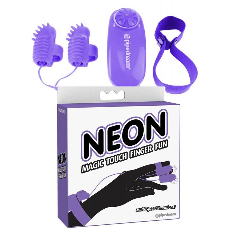 Вибро пръсти, магическо докосване в лилав цвят – Neon Magic Touch Finger Fun