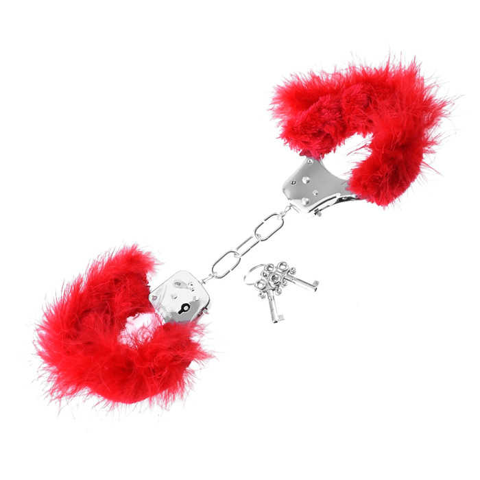 Любовни белезници с червени пера - Feather Love Cuffs — 2
