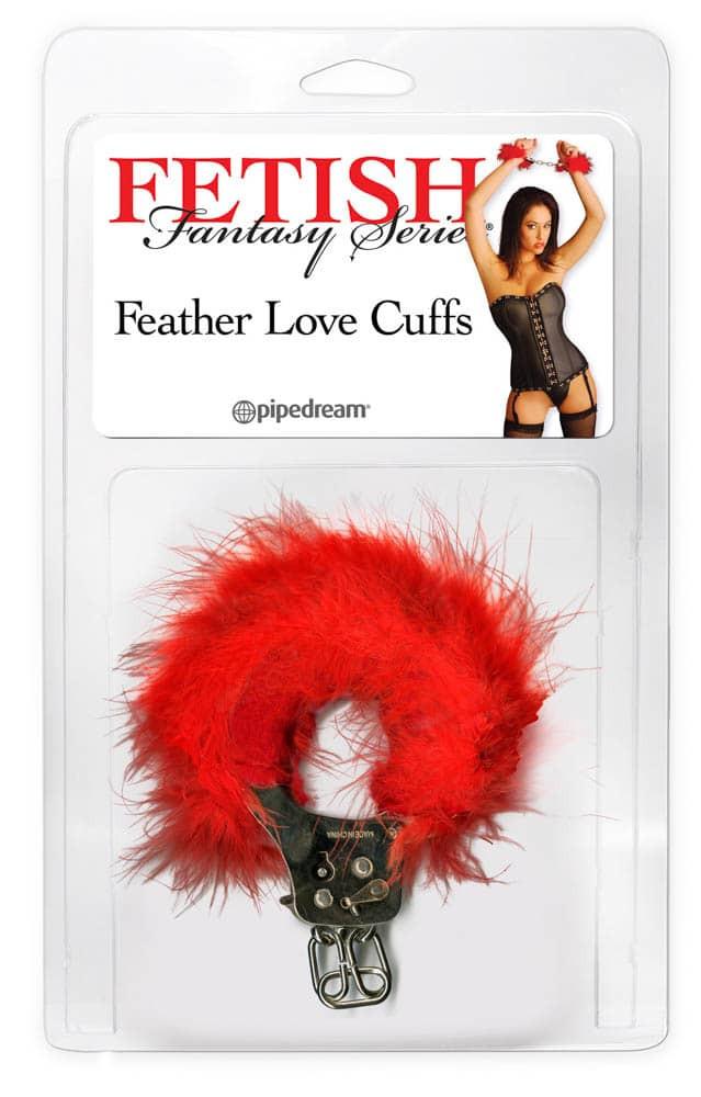 Любовни белезници с червени пера - Feather Love Cuffs — 3
