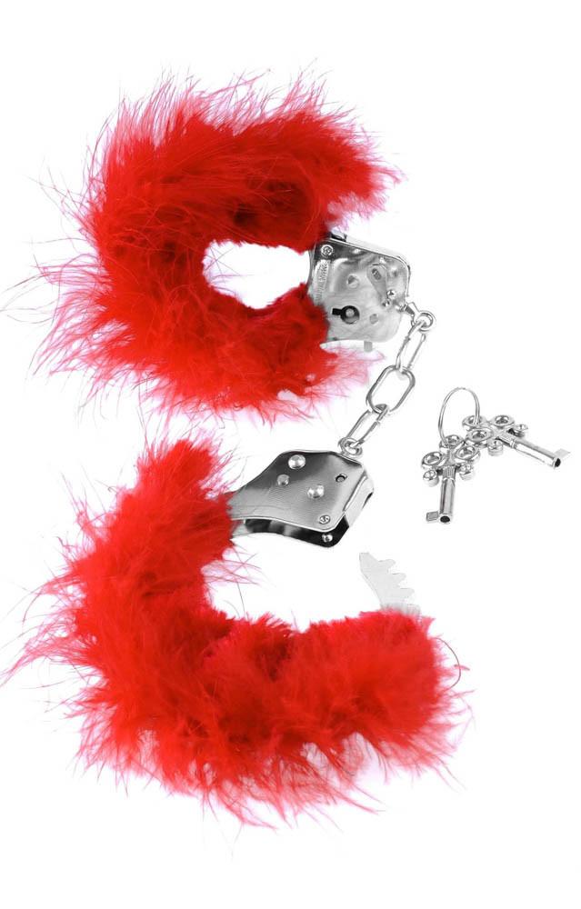 Любовни белезници с червени пера - Feather Love Cuffs — 4