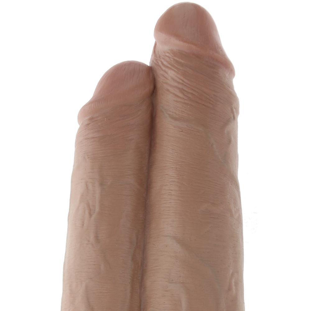 Дилдо 2 в 1, бежов цвят 25см. – Two Cocks One Hole, King Cock