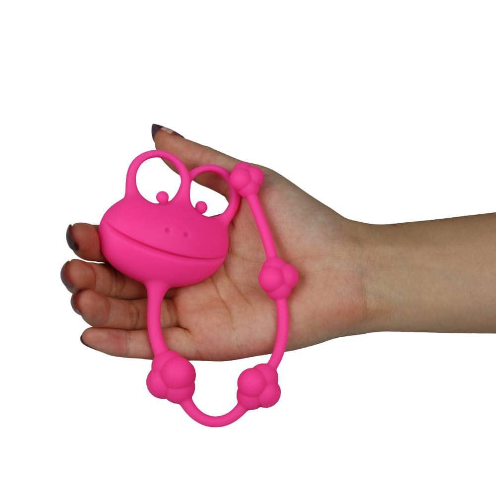 палавата жаба - Silicone Frog Anal Beads — 2