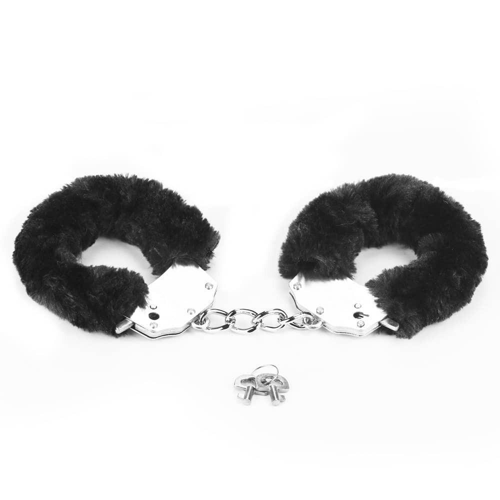 Белезници с черен плюш - Fetish Pleasure Fluffy Hand Cuffs