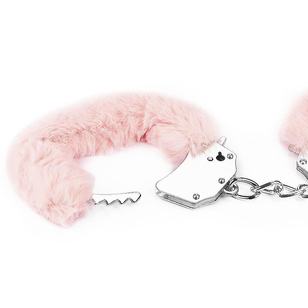 Белезници с розов плюш - Fetish Pleasure Fluffy Hand Cuffs — 6