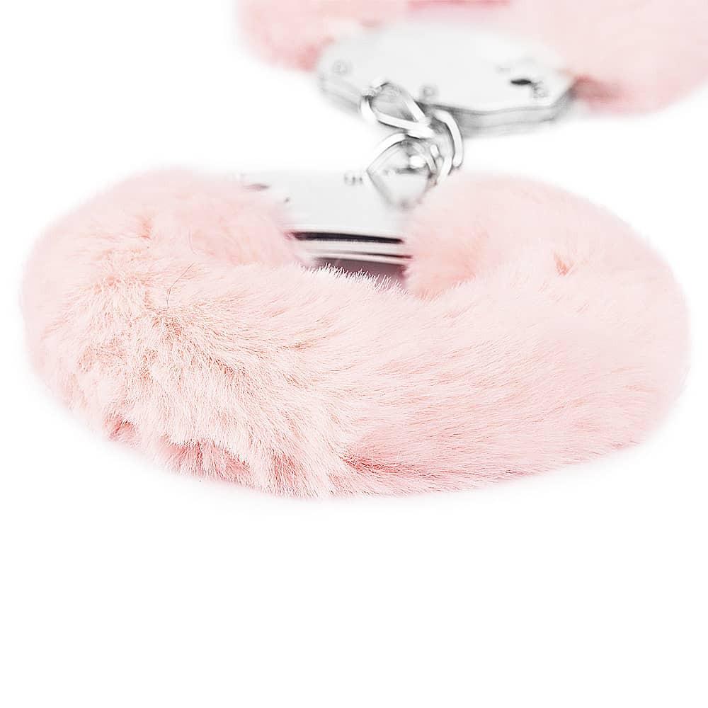 Белезници с розов плюш - Fetish Pleasure Fluffy Hand Cuffs — 3