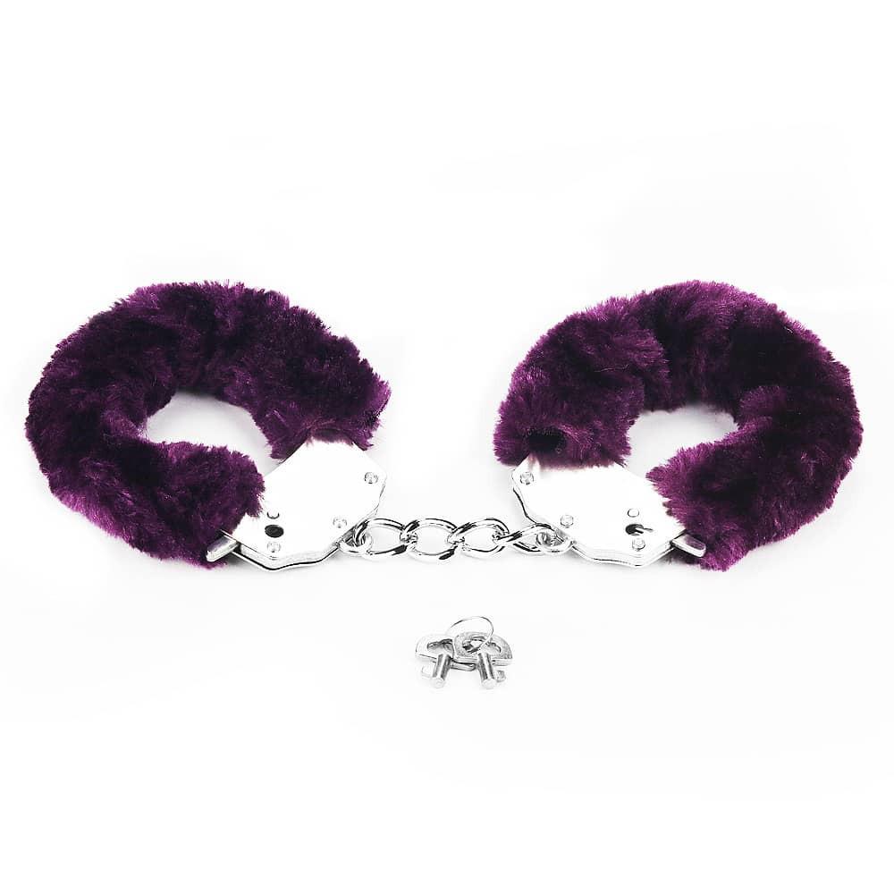 Белезници с лилав плюш - Fetish Pleasure Fluffy Hand Cuffs — 6