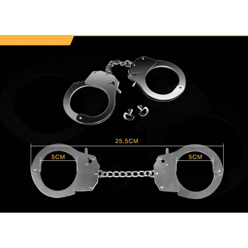 Метални белезници за фетиш удоволствие - Fetish Pleasure Metal Hand Cuffs — 2