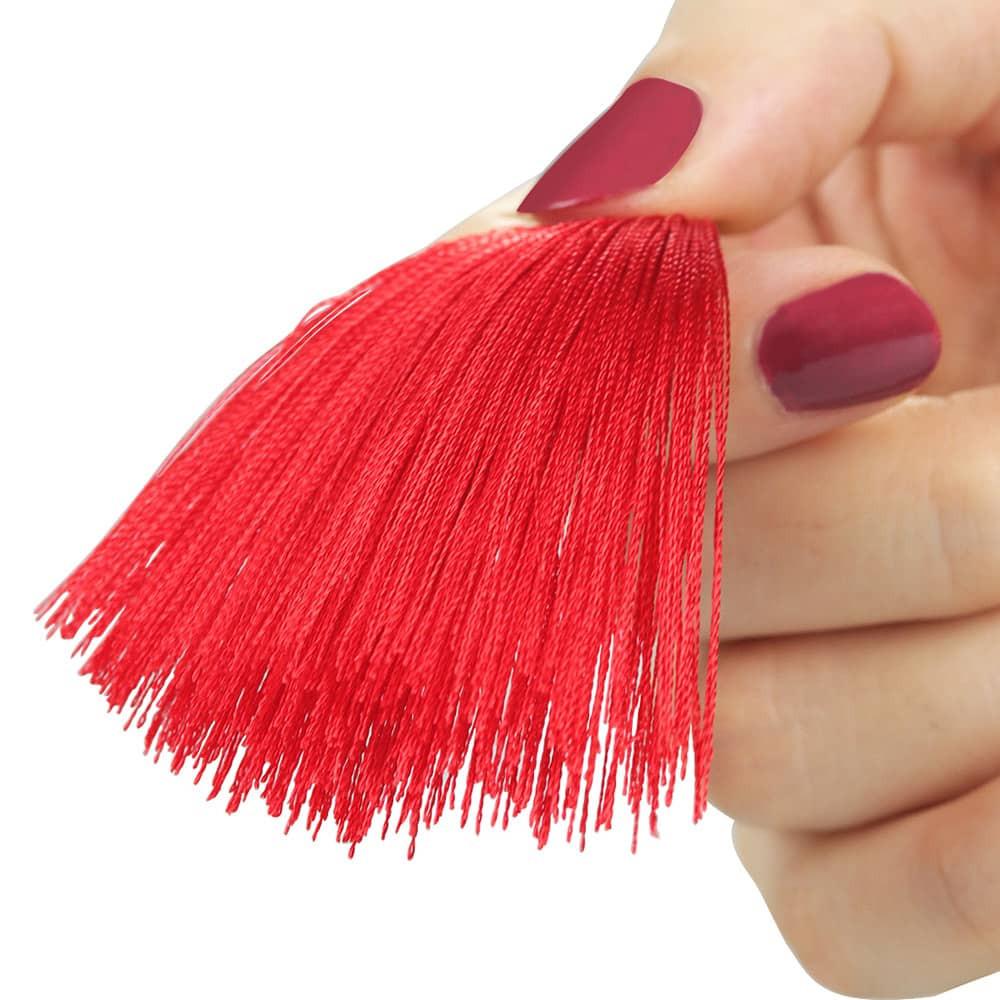 Скоби за зърна с червени пискюли - Tassel Nipple Clamp — 5