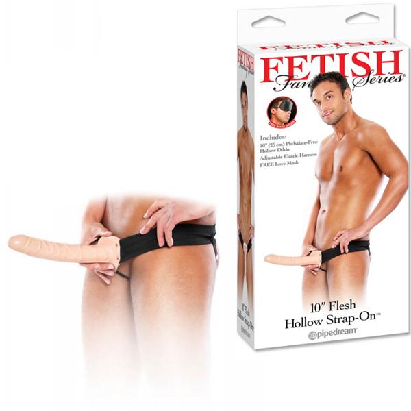 Пенис колан, качествен и кух, 25,4см. – Fetish Fantasy, Strap-On Flesh
