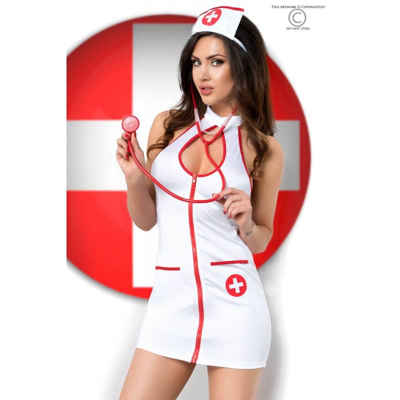 Еротичен костюм, секси медицинска сестра – CR 3854 S/M