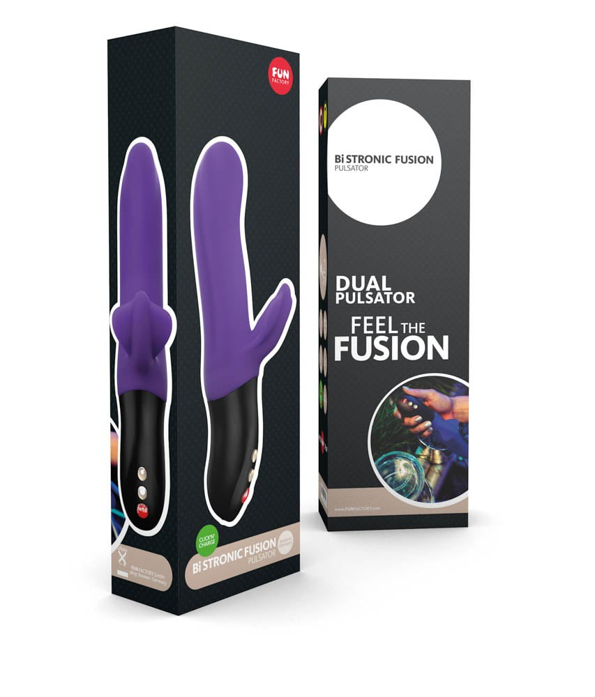 Страхотен пулсиращ вибратор – Bi Stronic Fusion, Лилав